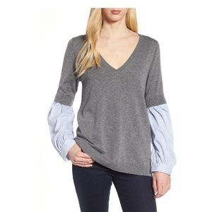 🛍3/$30🛍 TROUVÉ Woven Sleeve Sweater